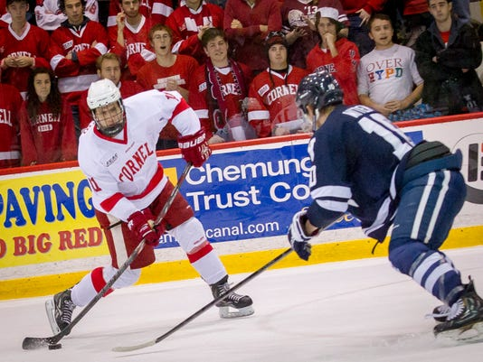 Cornell vs Yale in college mens ice hockey