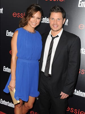 Vanessa Lachey and Nick Lachey attend the Entertainment Weekly celebration honoring this year's SAG Awards nominees sponsored by TNT & TBS and essie at Chateau Marmont on January 17, 2014 in Los Angeles, California.