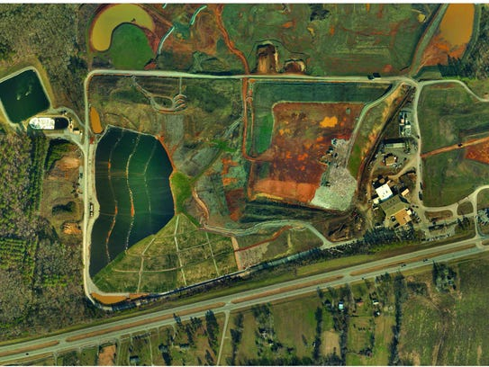 From this aerial view of Bi-County landfill shows a