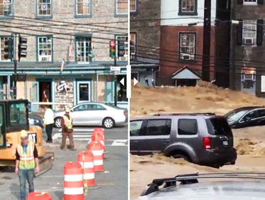 Ellicott City before and after