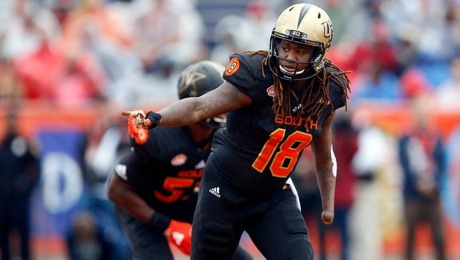 Shaquem Griffin's left hand was amputated when he was four years old, the result of amniotic band syndrome, a congenital birth defect.