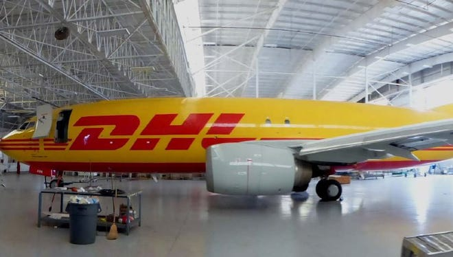 A Southern Air cargo plane that the Florence-based company operates for DHL.