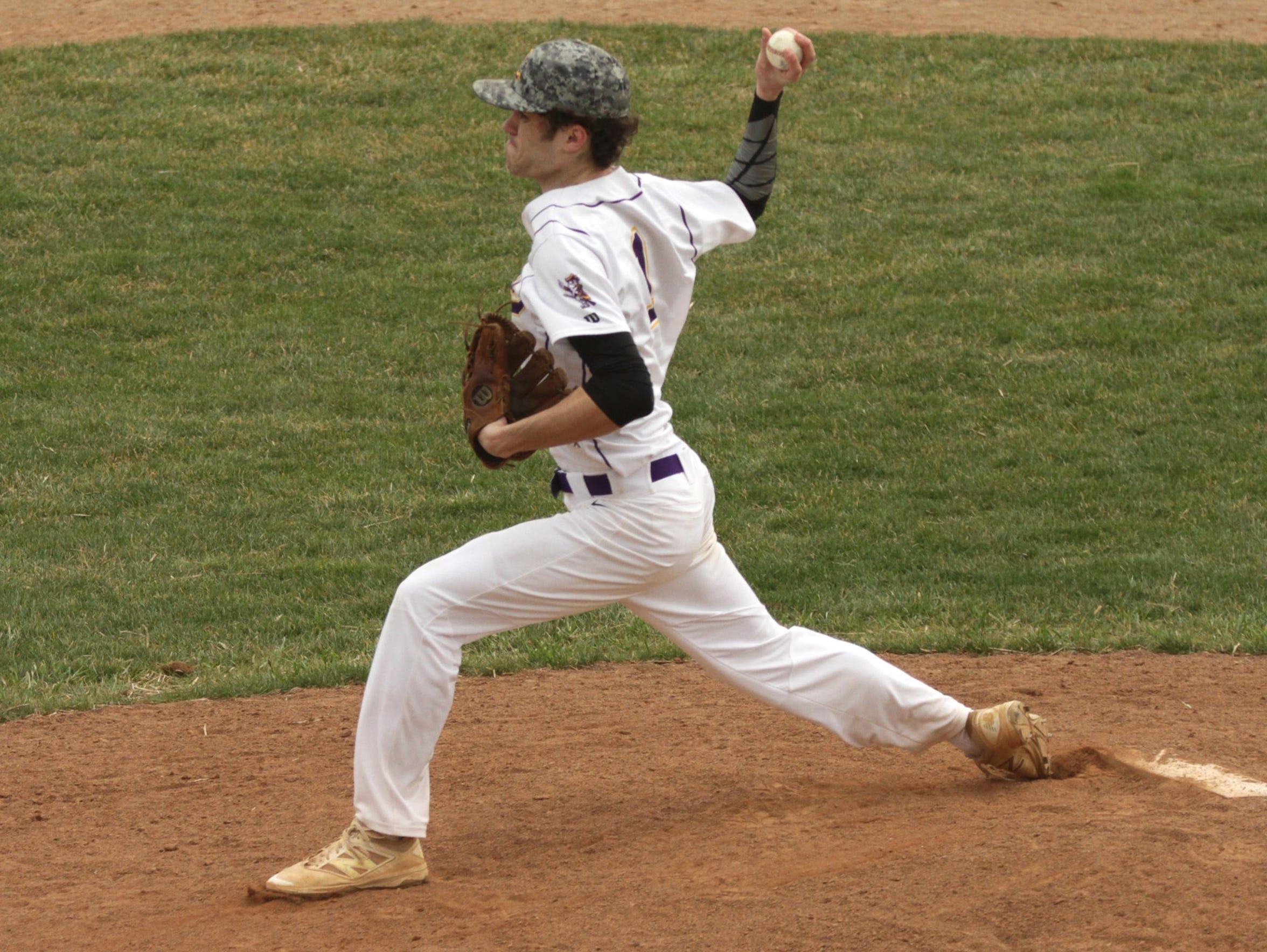 Lexington's Jake Depperschmidt pitches a home game