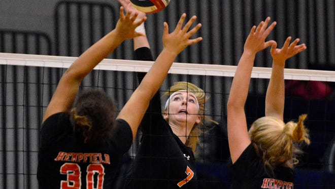 Alexa Shorts is one of the leading players on the unbeaten Central York girls' volleyball team. DISPATCH FILE PHOTO
