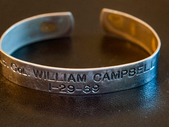An MIA bracelet for Col. William Campbell who was declared