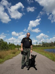 Cpl. Tom Sweeny and his dog, Boss, a retired CCSO K-9,