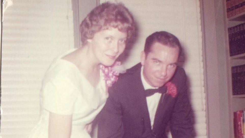 Martha and Jimmy Eldridge at their wedding, Oct. 28,