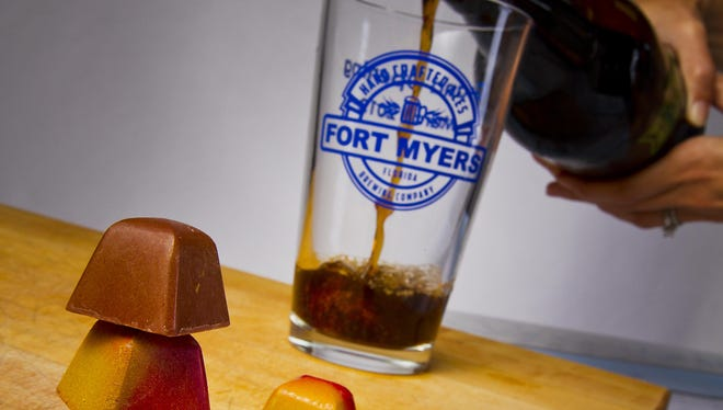 Norman Love chocolates and beer from Fort Myers Brewing Company, two delicious spring-training eats.