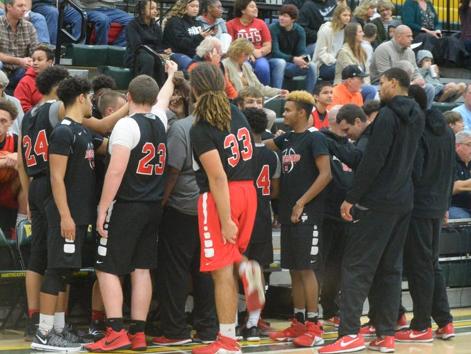 Richmond traveled to Northeastern in a boys basketball