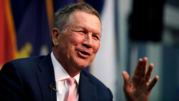 Ohio Gov. John Kasich, a Republican, said President Trump is hurting Republicans' chances to win Tuesday's special election for Congress by alienating suburban women voters.