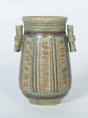 Vessel by Linda Sheard of Lily Bay Pottery, one of