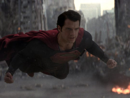 Henry Cavill as Superman in a scene from the motion