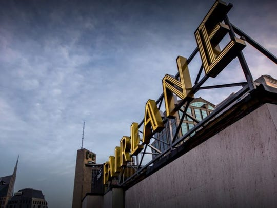 Signage for The Fairlane Hotel.