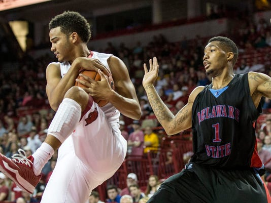 NCAA Basketball: Delaware State at Arkansas