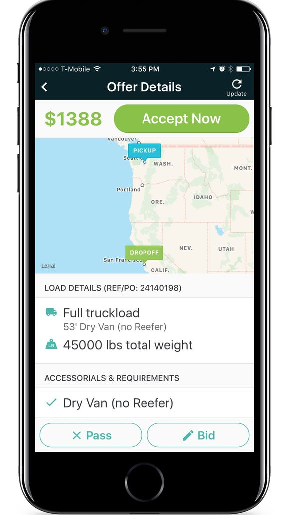 Convoy is an app that connects mid-size truckers with