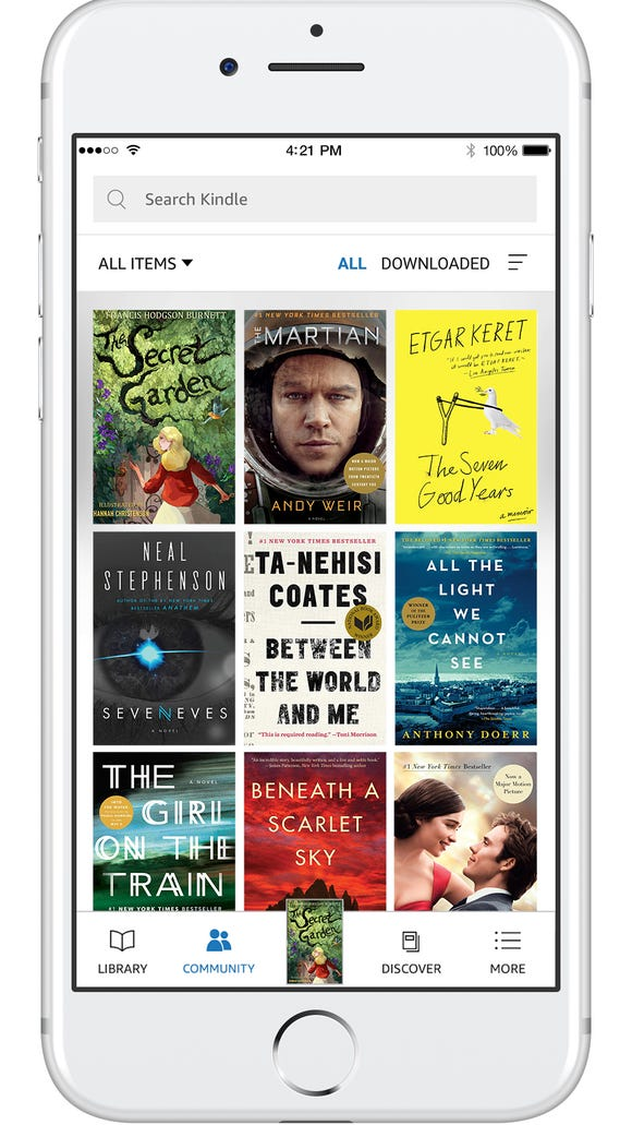 Showing off your library in the Kindle app