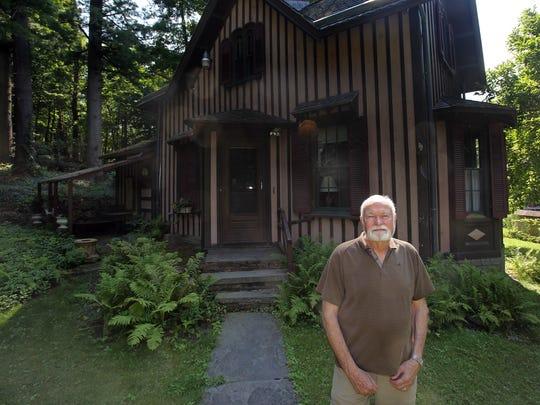 Harvey Flad, an historic landscape preservationist is photographed at Springside, Matthew Vassar's estate in Poughkeepsie on July 17, 2017.
