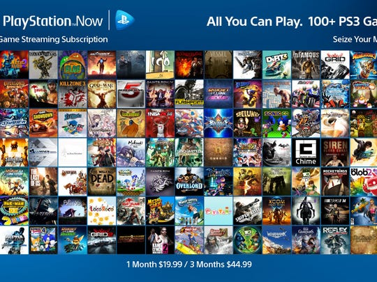 The initial catalog of titles for PlayStation Now's