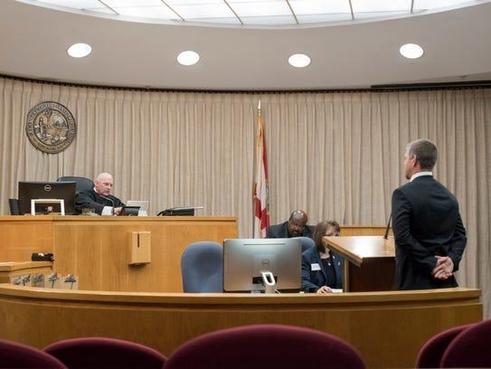 First Circuit Court judge Gary Bergoshpresides over