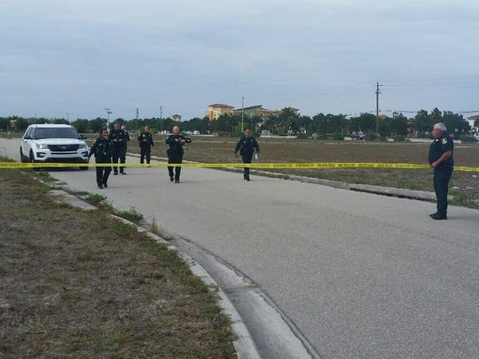 The Lee County Sheriff's Office investigates an officer-involved shooting Tuesday, April 18, 2017, in Estero.