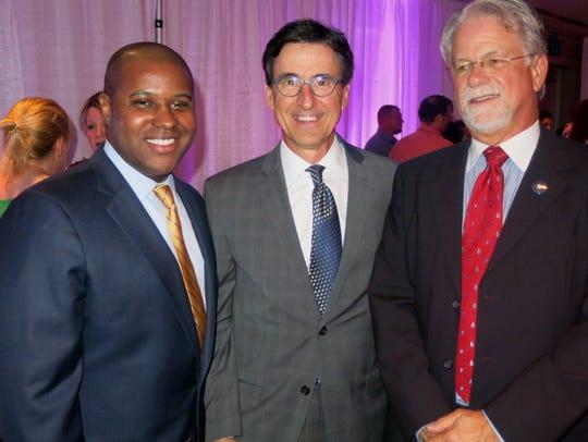 Jerry Edwards, University Health CEO Steve Skrivanos,