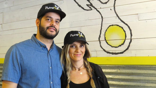 Dimitri and Daniela Koulakis are the husband-and-wife owners of The Flying Yolk, a new breakfast-centric restaurant in Simi Valley. They also own Rou-Meli Cafe in Oxnard.