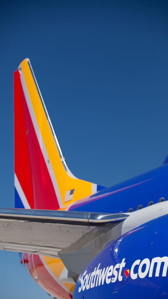The new look for Southwest Airlines' aircraft.