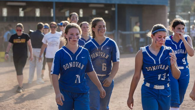 In spite of playing a great game, Donovan Catholic walked away disapointed dropping their State final game to IHA 2-1. Donovan Catholic vs Immaculate Heart Academy in NJSIAA Group Non-Public A  Softball Final.