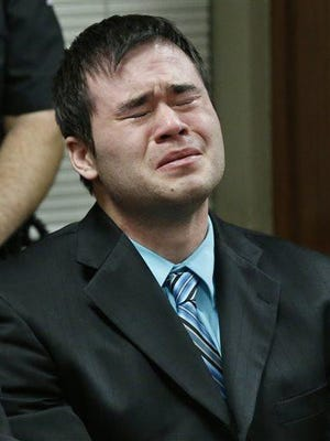 Daniel Holtzclaw cries as the verdicts are read in his trial Thursday in Oklahoma City. Holtzclaw, a former Oklahoma City police officer, was facing dozens of charges alleging he sexually assaulted several women while on duty. Holtzclaw was found guilty on a number of counts.