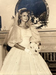 Photograph of Mary Elizabeth Horton Vail, taken on her wedding day, July 1, 1961