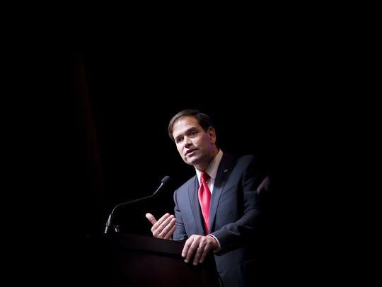 Republican presidential candidate Sen. Marco Rubio,