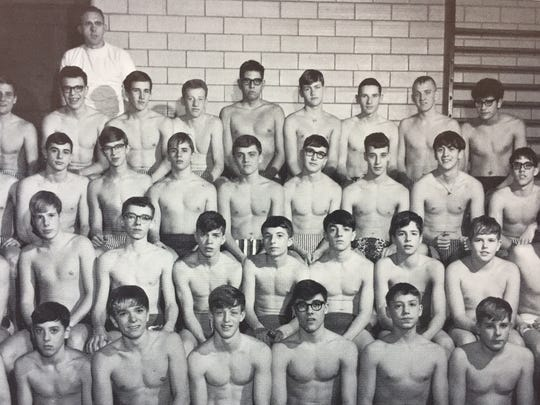 The 1966 Charlotte High School swim team. The school