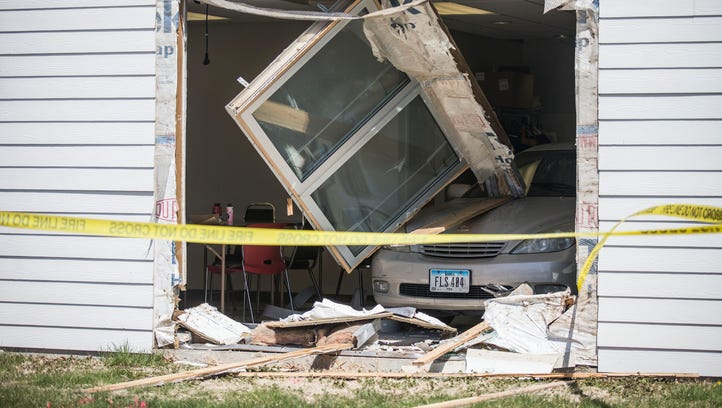 Two suffer minor injuries after car crashes into Polk County Senior Center