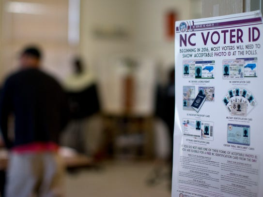North Carolina voters needed photo ID at the polls