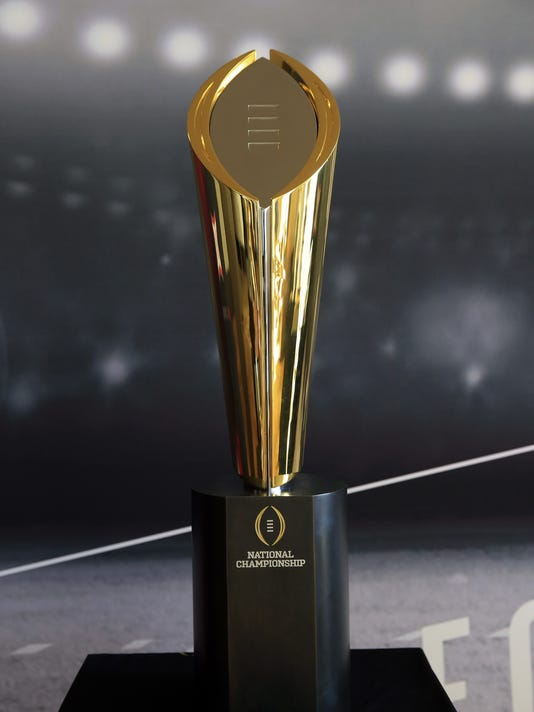 The College Football championship trophy