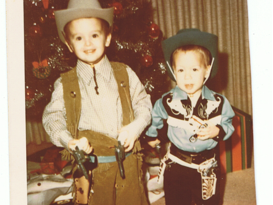 Christian Parkes, left, and his brother as children.