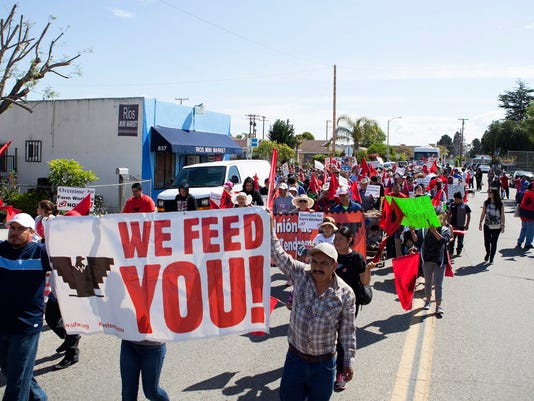 Farmworker rally in Oxnard