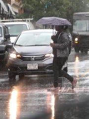 Rain falls on Main St. in Nyack Sept. 25, 2018.