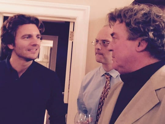 Actor William Connell, left, who plays painter Jamie
