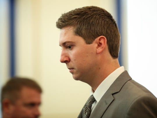 Ray Tensing enters the courtroom of Common Pleas Judge Megan Shanahan in the Hamilton County Courthouse Tuesday, November 1, 2016.