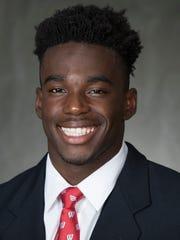 University of Wisconsin wide receiver Quintez Cephus.