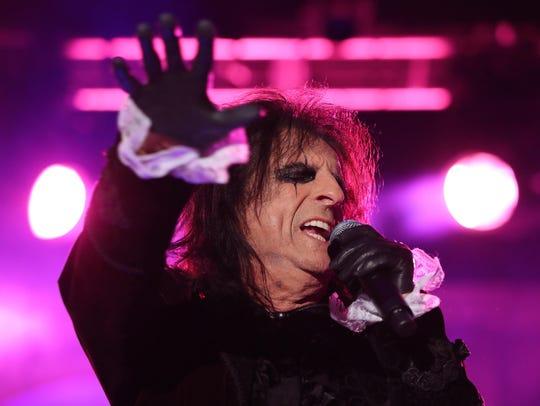 Shock-rocker Alice Cooper performs in Elmira next week.