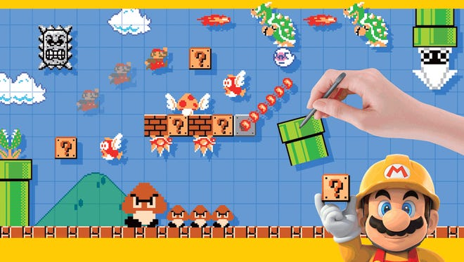 """Tap into your inner game designer with """"Super Mario Maker"""" for the Nintendo Wii U."""