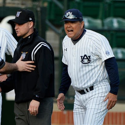 Sunny Golloway, right, went 10-20 against the SEC in his first season as Auburn's coach.