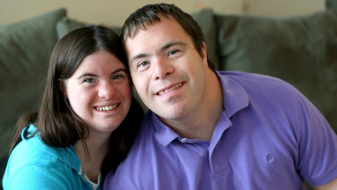 "Jillian (Daugherty) Mavriplis, 26, and Ryan Mavriplis, 28, celebrated their first wedding anniversary June 27. The couple have a townhouse in Montgomery. They both have Down Syndrome. They met 11 years ago at a sporting event and have been together ever since. Asked about this past year, and Jillian says, ""We get along ok. We do have our ups and downs, but we still love each other no matter what."" Ryan adds, ""We live independently."""