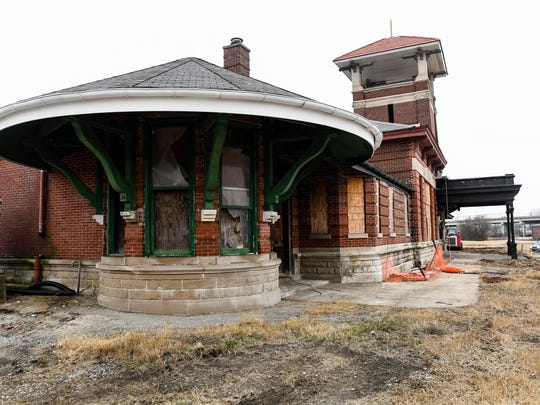 The historic Union Station railroad depot in Henderson Thursday. Construction has been underway for more than a year and the restoration project is now ahead of schedule, February 9, 2017.