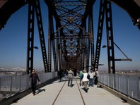 A scene at the opening of the Big Four Bridge in Waterfront Park on February 7, 2013 in Louisville.