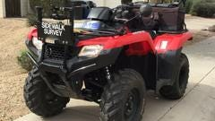 Las Cruces authorities reminded residents on Monday, Oct. 15, 2018 that ATVs and four-wheelers are prohibited to use on city streets. The four-wheeler shown here was used as part of an official city sidewalks survey.