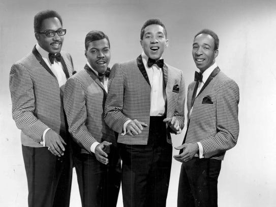 Smokey Robinson and the Miracles—from left, Bobby Rogers,