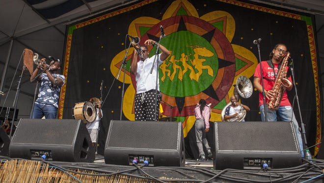Rebirth Brass Band, pictured in 2015, is among the acts scheduled for Michael Arnone's 28th annual Crawfish Festival June 2 to 4 at the Sussex County Fairgrounds in Augusta.